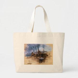 Bethlehem Steel Works by Joseph Pennell Large Tote Bag