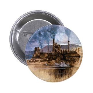 Bethlehem Steel Works by Joseph Pennell Pinback Button