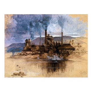 Bethlehem Steel Works by Joseph Pennell Postcard