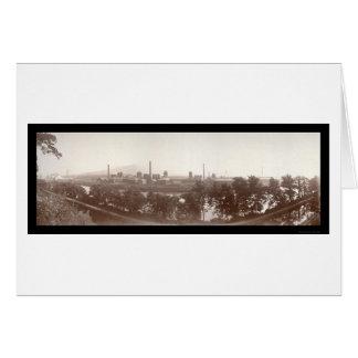 Bethlehem Steel Works Photo 1896 Card