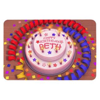 Beth's Birthday Cake Magnet