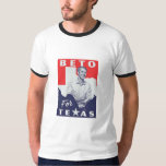 "BETO for Texas Ringer Tee<br><div class=""desc"">Custom made BETO for Texas Ringer T Shirt. BETO image with Texas of front,  Back text,  BETO O&#39;Rourke for Texas Senate. betofortexas.com</div>"