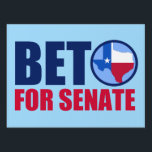 "Beto for Texas Senate 2018 Lawn Sign<br><div class=""desc"">Beto for Senate Yard Sign. Vote for democratic party candidate Beto O&#39;Rourke against Ted Cruz in the 2018 midterm elections for senate. We need a democrat for the Texas Senator to take back the Senate. The red, white, and blue state of Texas is in the O for Beto. Proudly show...</div>"