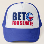 """Beto for Texas Senate 2018 Trucker Hat<br><div class=""""desc"""">Vote for democratic party candidate Beto O&#39;Rourke against Ted Cruz in the 2018 midterm elections for senate. We need a democrat for the Texas Senator to take back the Senate. The red,  white,  and blue state of Texas is in the O for Beto.</div>"""