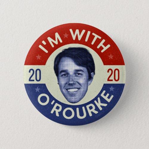 Beto ORourke President 2020 Democrat Photo Retro Button