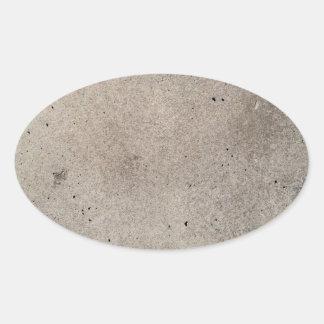 beton concrete hormigón  béton oval sticker