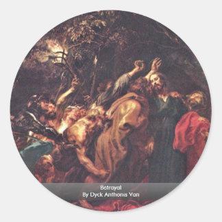 Betrayal By Dyck Anthonis Van Round Sticker