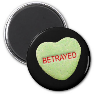Betrayed Candy Heart Magnets