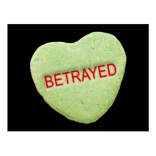 Betrayed Candy Heart Postcards