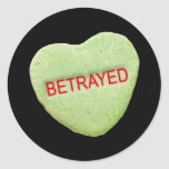 Betrayed Candy Heart Stickers
