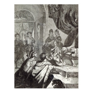 Betrothal of the French Princess to Richard II Postcard
