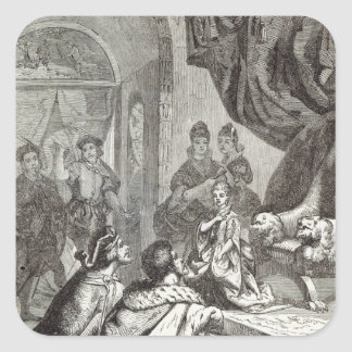 Betrothal of the French Princess to Richard II Square Sticker