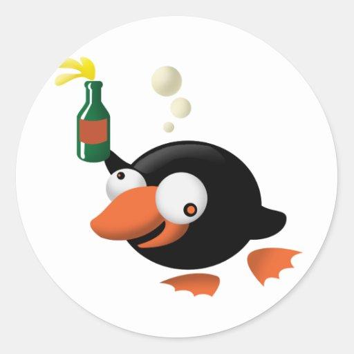 Betrunkener Pinguin Sticker