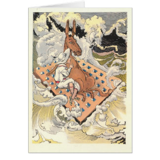 Betsy Bobbin and Hank the Mule adrift Greeting Cards