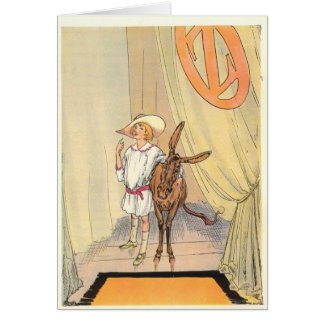 Betsy Bobbin and Hank the Mule in the Emerald City Card