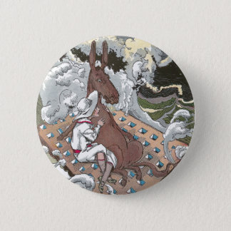 Betsy Braves the Billows Pinback Button