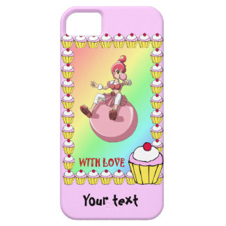 Betsy bubblegum with cupcakes iPhone SE/5/5s case