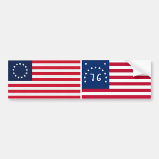 Betsy Ross 13 Stars American Flag Bumper Sticker