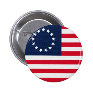 Betsy Ross 13 Stars American Flag 2 Inch Round Button