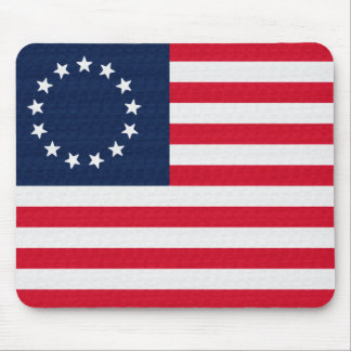 Betsy Ross 13 Stars American Flag Mouse Pad
