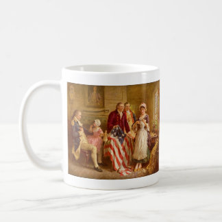 Betsy Ross 1777 by Jean Leon Gerome Ferris Classic White Coffee Mug
