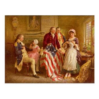 Betsy Ross 1777 by Jean Leon Gerome Ferris Postcards