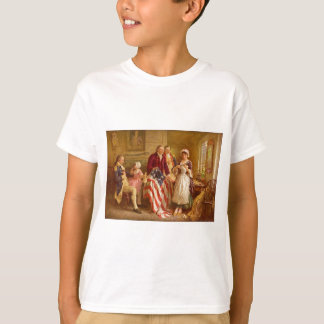 Betsy Ross 1777 by Jean Leon Gerome Ferris T-Shirt