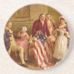 Betsy Ross 1777 de Jean León Gerome Ferris Posavasos Manualidades