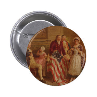 Betsy Ross, 1777, JLG Ferris, c1930 2 Inch Round Button