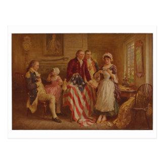 Betsy Ross, 1777, JLG Ferris, c1930 Postcard