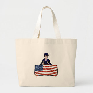 betsy ross american flag large tote bag