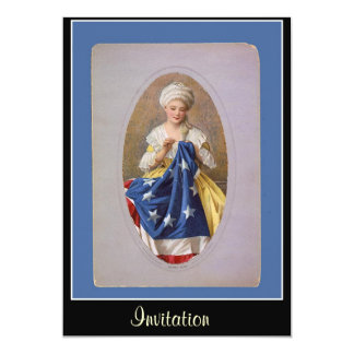 Betsy Ross and The Flag Invitation Personalized Invitation
