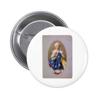Betsy Ross, c1908, G. Liebscher 2 Inch Round Button