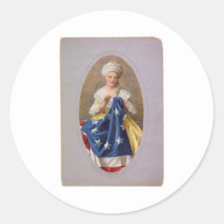 Betsy Ross c1908 G Liebscher Round Sticker