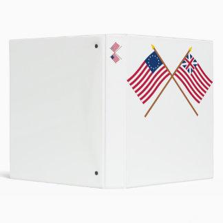 """Betsy Ross cruzado y banderas de unión magníficas Carpeta 1"""""""