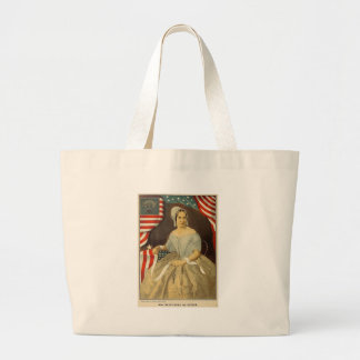 Betsy Ross First American Flag Vintage Portrait US Large Tote Bag