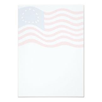 Betsy Ross Flag Background Invitation