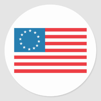 Betsy Ross Flag Classic Round Sticker