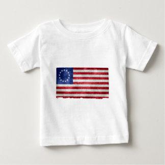 Betsy Ross Flag Grunge Baby T-Shirt