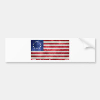 Betsy Ross Flag Grunge Bumper Sticker
