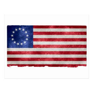 Betsy Ross Flag Grunge Postcard