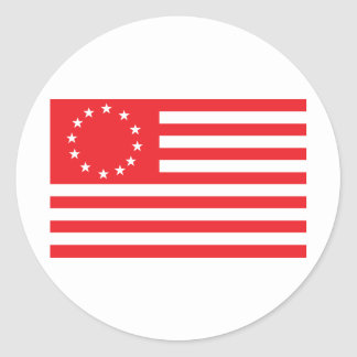 Betsy Ross Flag - Red Classic Round Sticker