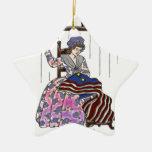 Betsy Ross hace una bandera Ornamento Para Reyes Magos