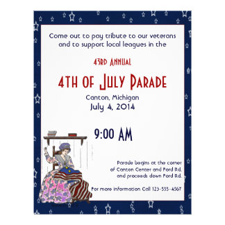 Betsy Ross Make a Flag July 4th Flyer