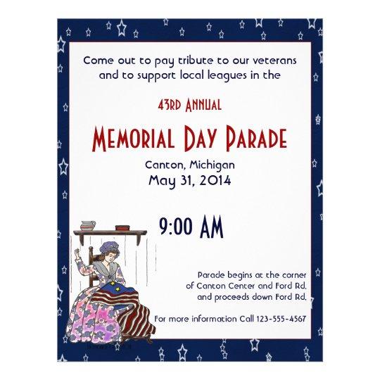 Betsy Ross Make a Flag Memorial Day Flyer