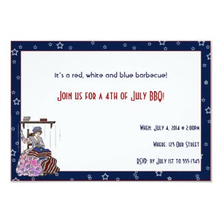 Betsy Ross Makes a Flag 4th of July Party Invitation