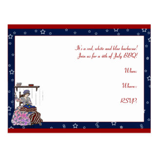 Betsy Ross Makes a Flag 4th of July Postcard