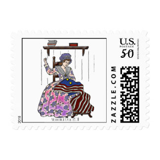 Betsy Ross Makes a Flag July 4th Postage