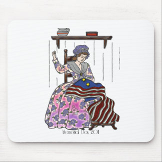 Betsy Ross Makes a Flag Memorial Day Mouse Pad