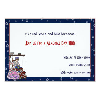 Betsy Ross Makes a Flag Memorial Day Party Invites